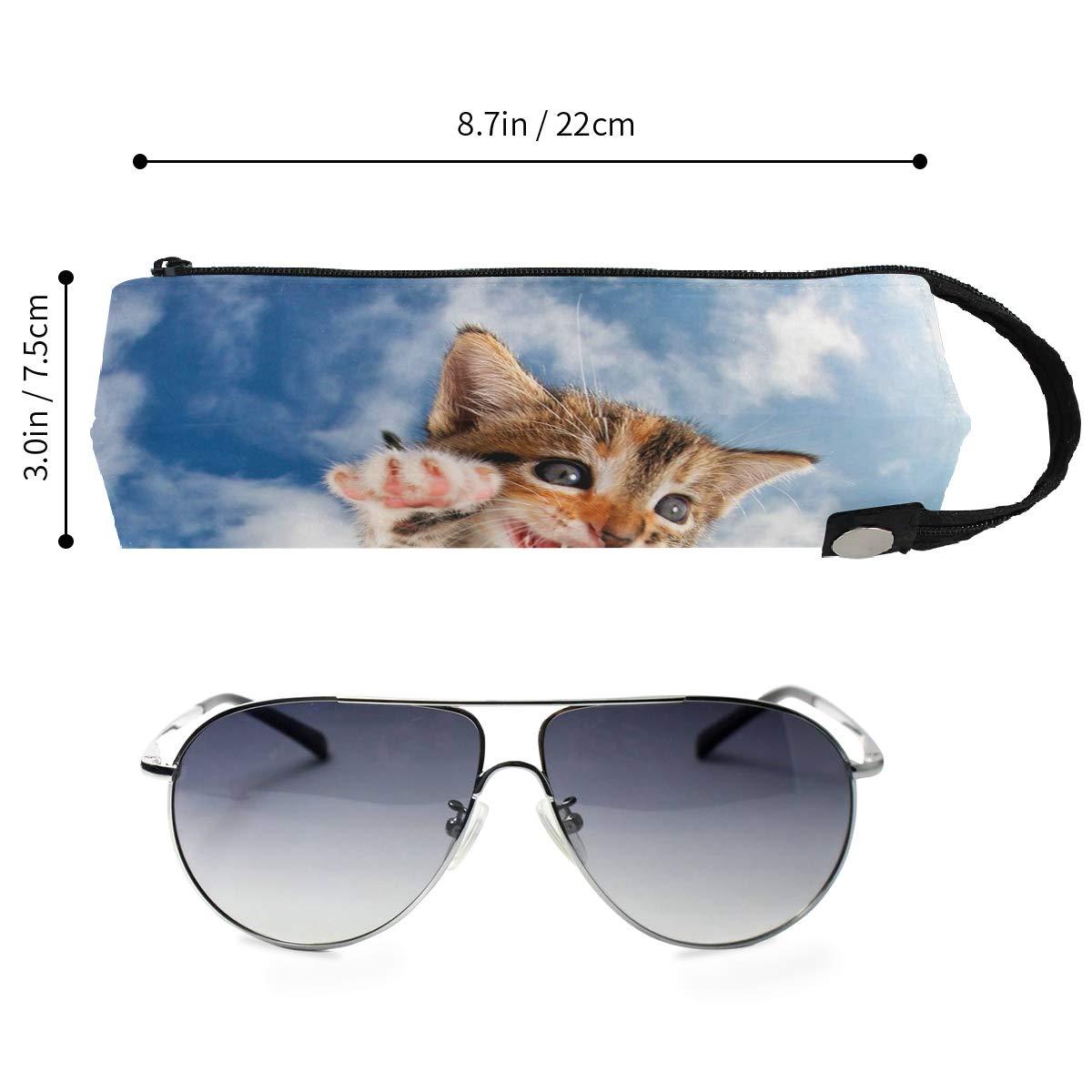 Underwater Dogs Glasses Case Zipper Soft Sunglasses Ball Pen Bag Protective Holder