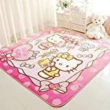 Sport do Cute Anti-Skidding Hello Kitty Rose Red Children Carpet,Comfortable Kids Playing/Crawling Mat,Living...