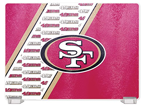 NFL San Francisco 49Ers Glass Cutting Board (Francisco San Sports 49ers Glass)