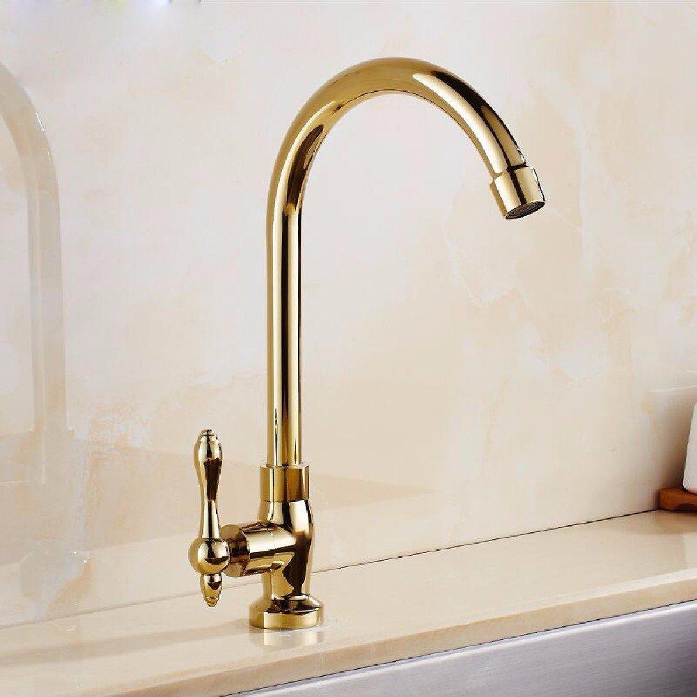 HQLCX-Basin Sink Mixer Tap Waschtischarmaturen Europäische Kupfer Wasserhahn Einzelne Rotary - Becken Wasserhahn.