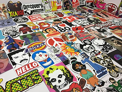 Lucky's Graffiti Shop - 100 piece pack of random vinyl waterproof and UV resistant stickers (Slap Pop)