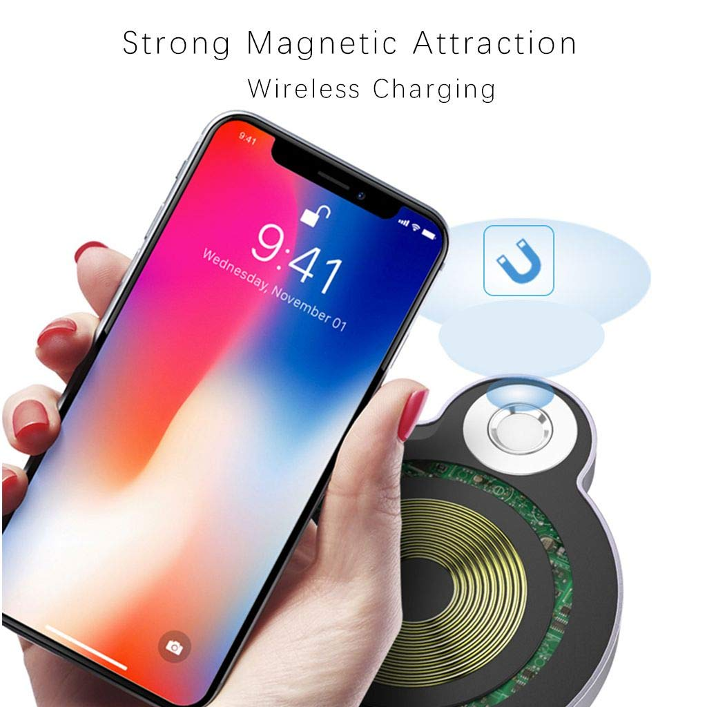 Samsung Galaxy S7//S7 Edge//Note 8//7//5 Shenzhen Originality Technology Co Ltd M2 Ovevo Magnetic Fast Qi Wireless Car Charger Air Vent /& Car Mount for Apple iPhone X//8//8 Plus