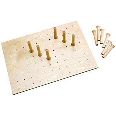 Rev-A-Shelf 12 Peg Board System for 30 x 21 Inch Drawers, Natural Maple