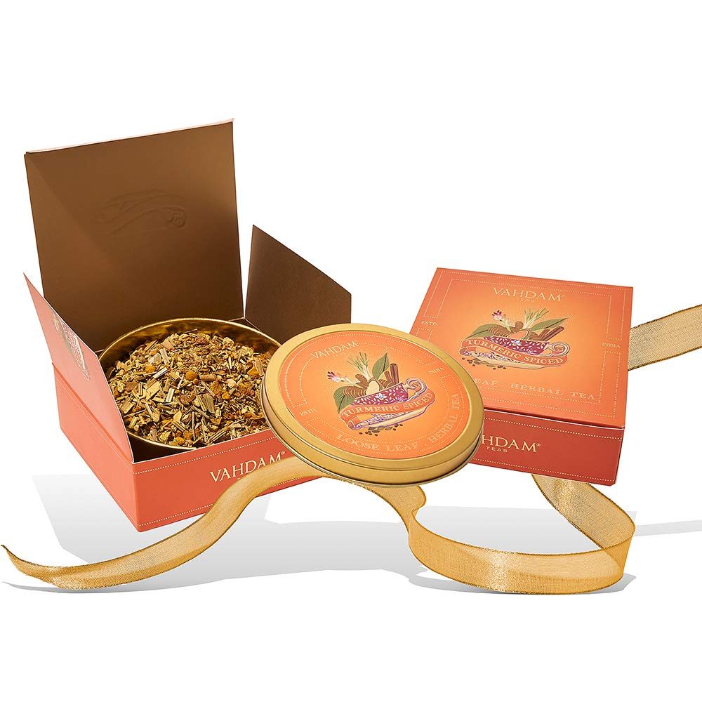 VAHDAM, Turmeric Spiced Tea Gift Set for Father's Day   100% Natural Ingredients   Packed at Source in India   Wellness Gift Set for Fathers Day   Tea Gifts for Dad   Gift of Good Health