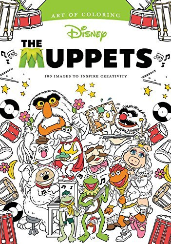 Muppets Coloring Book Adult Design Art Relax Creativity Stress