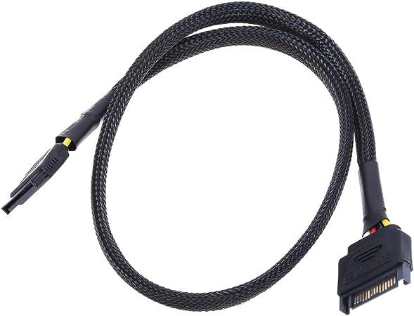 Phobya Sata Strom Verlängerung Intern 60cm Schwarz Computer Zubehör