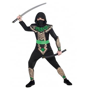 Krause & Sohn Niños Disfraz Dragon Ninja Mono Disfraz Japón ...