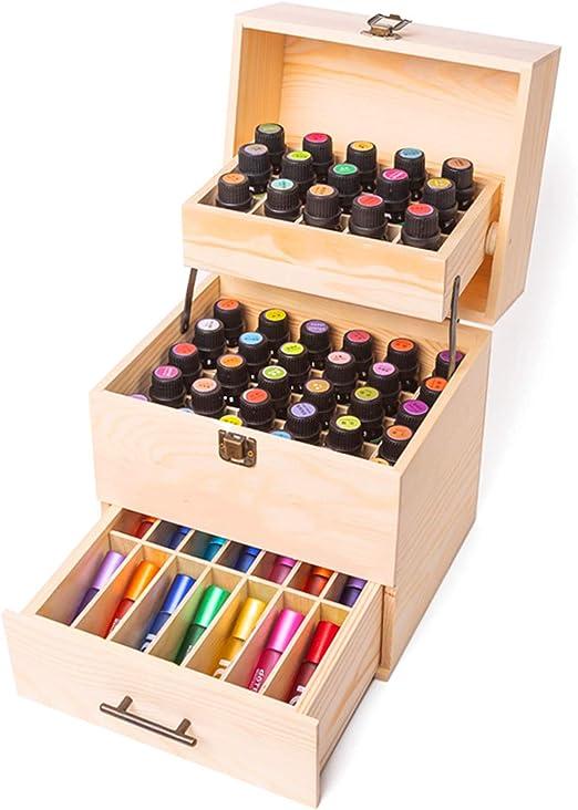 CHSEEO Caja de Aceites Esenciales para 59 Botellas Caja de ...