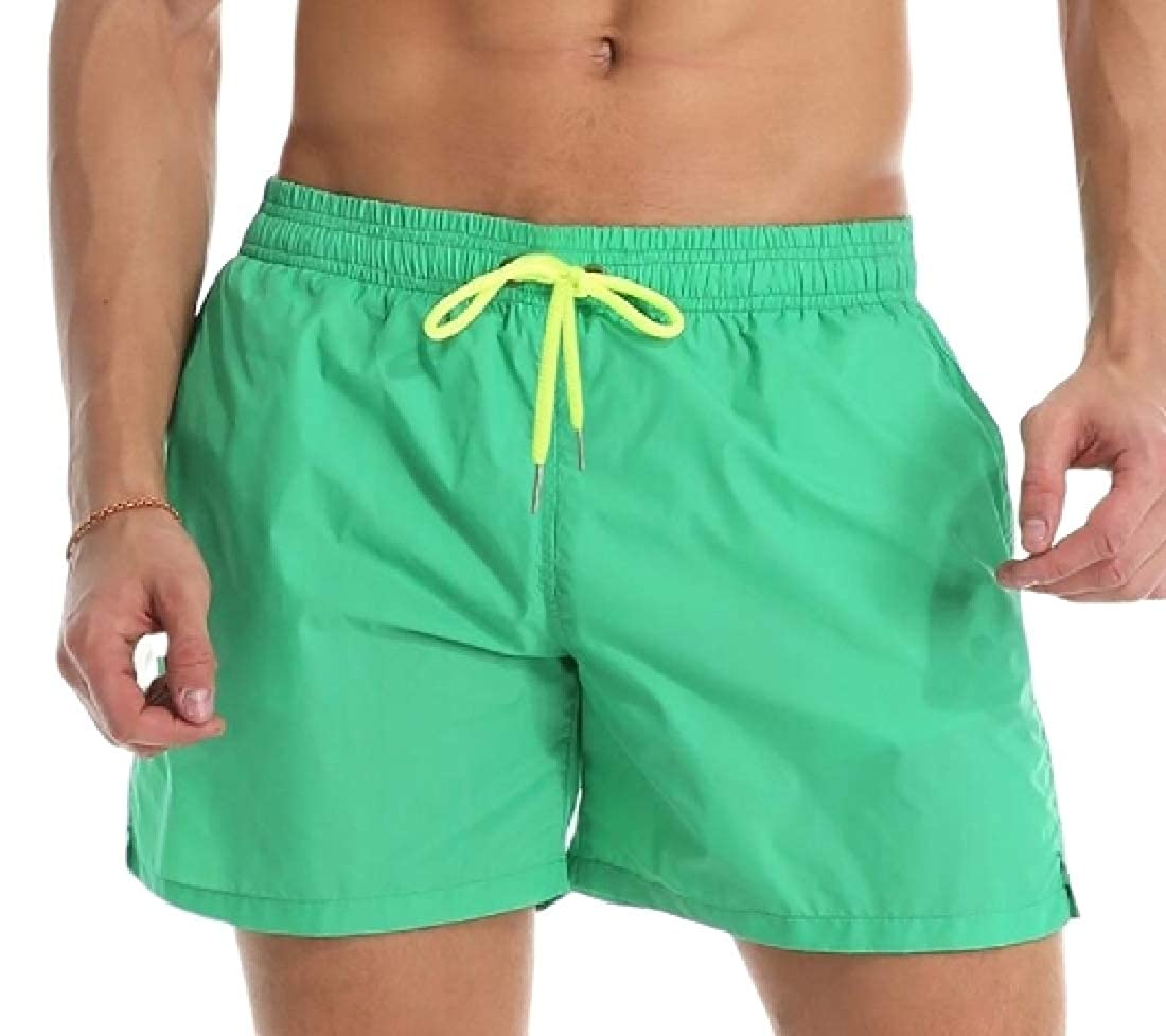 OTW Mens Beach Quick-Drying Trunks Elastic Waist Swim Summer Board Shorts