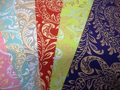 12 A4 Sheets of Luxury Handmade Wedding/Designer Paper - Paper Paradise - 6 Designs - 2 Sheets of each by Cranberry Card Company