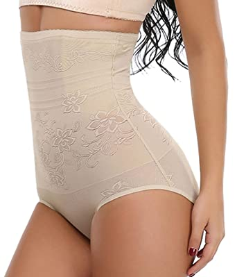 ea2186cbb131d SLIMBELLE Tummy Control Panties Knickers Underwear Body Shaper Shapewear  Seamless Butt Lifter High Waist Briefs Hip Enhancer for Women Upgraded  ...