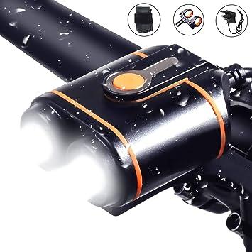 WASAGA Luces para Bicicleta,1200 lúmenes luz Delantera Impermeable ...