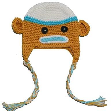 Omo Mädchen Jungen Baby Affe Cartoon Stricken Mütze Häkeln Hoot Hat