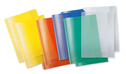 Hefthüllen DIN A4 transparent rot Farbe 10 Herlitz Heftumschläge