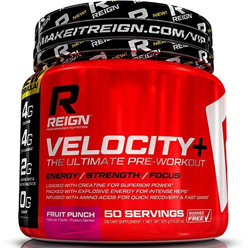 Pre Workout poudre de vitesse + w / créatine - 50 portions - augmentation énergie & construire la masse musculaire - qualité force & boisson Preworkout supplément de culturisme pour hommes & femmes