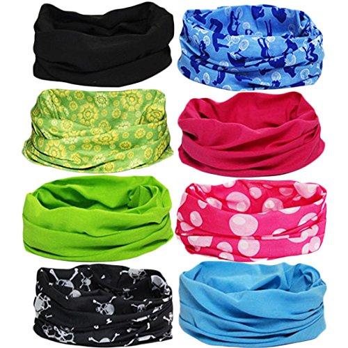 e Seamless Headwear Bandanas Mixed Set Value Pack [Set of 8] ()