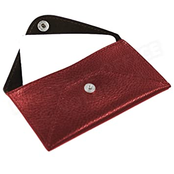 Case Cover Carte Visite Leather Rouge Bordeaux Beaubourg
