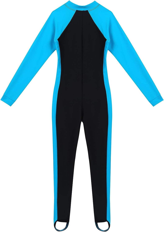 Hougood Badeanzug M/ädchen Jungen One Piece Langarm Schwimmanzug Bademode mit UV-Schutz Kinder Neoprenanz/üge Surf Anzug f/ür Wassersport Alter 3-12 Jahre Alt