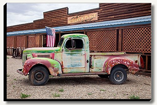 20 x 30 inch large gallery wrapped canvas photograph of an old rusty truck. by Bob Estrin Fine Art Photography