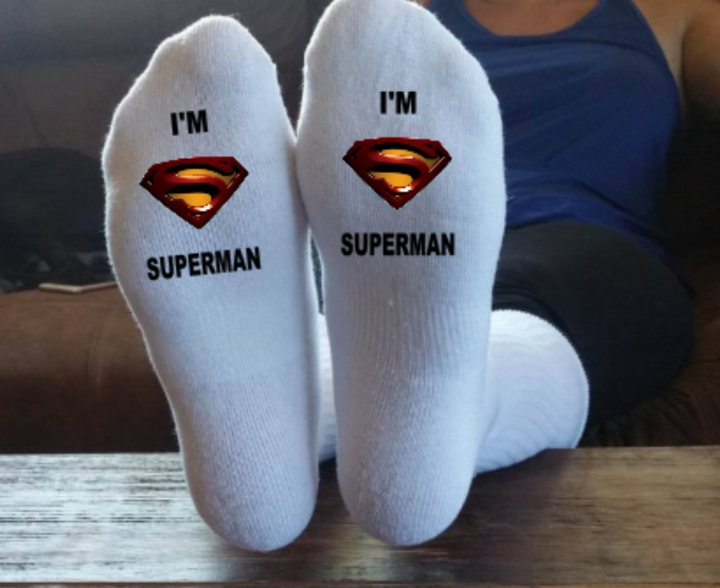 I'm Superman, Funny Socks, Father Socks, Christmas Gift, Stocking Stuffer, Grandpa Gift, Papa Present, Grandfather, Superman I'm Superman