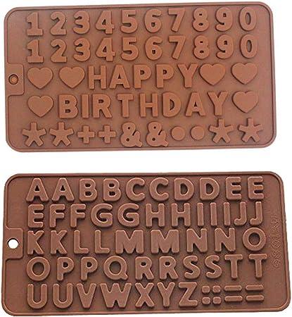 Biscotti stampi Fai da Te Sapone Muffin 2 Pezzi Stampo in Silicone a Forma di Numero Alfabeto per Torte Cioccolato FiedFikt cubetti di Ghiaccio