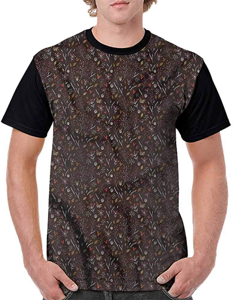 Performance T-Shirt,Abstract Natural Fresh Leaf Fashion Personality Customization