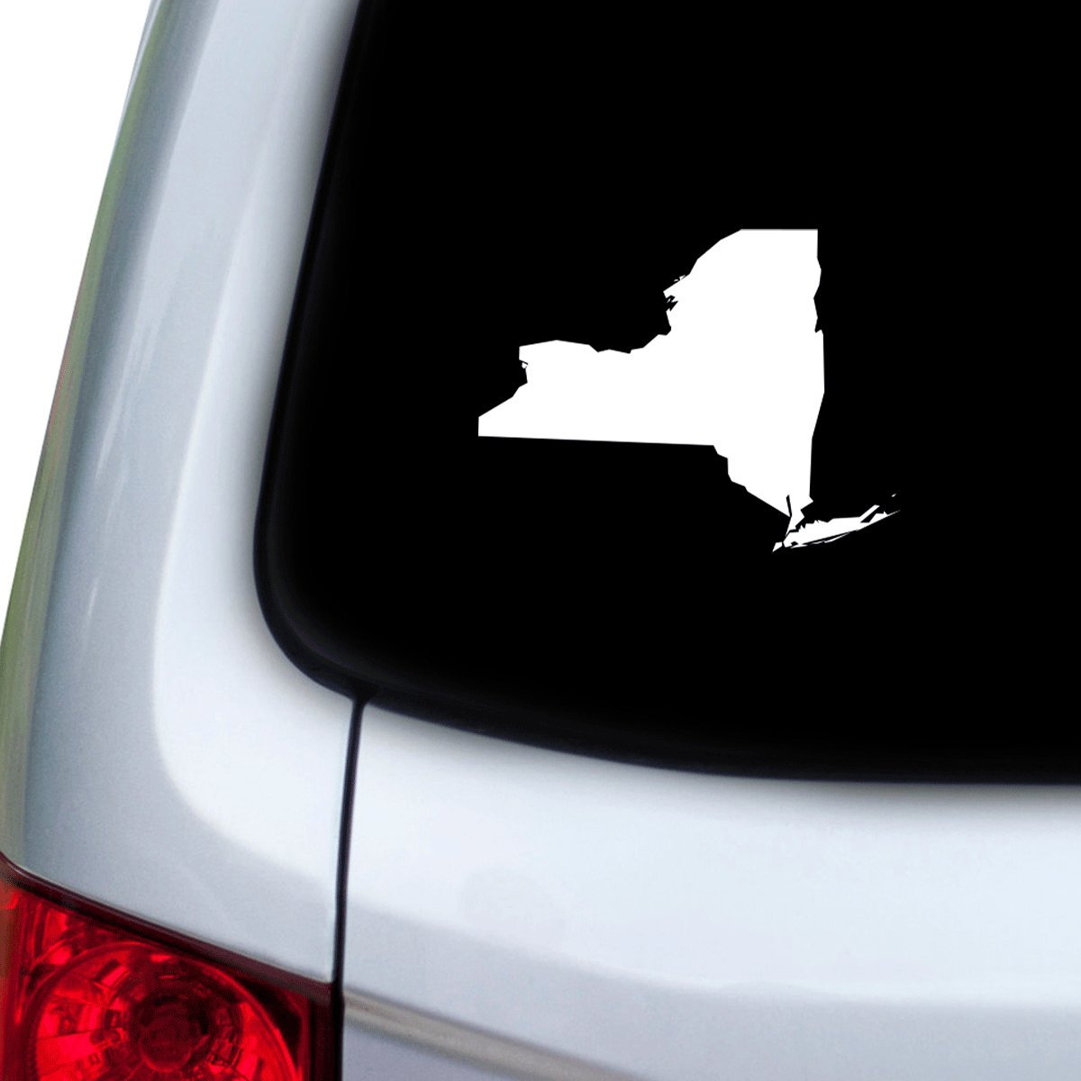 StickAny Car and Auto Decal Series New York NY Sticker for Windows Red Hoods Doors