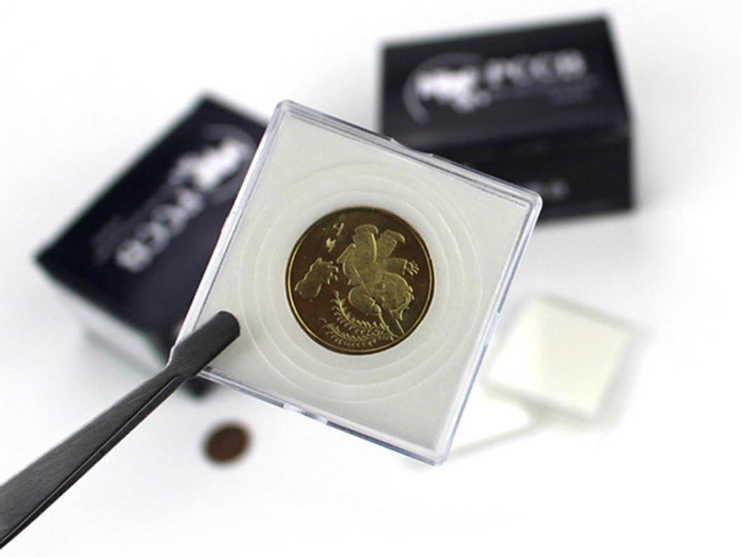 30 Pcs Box Round Shape Air-Tite Coin holder 17 22 27 32 37mm High Quality White