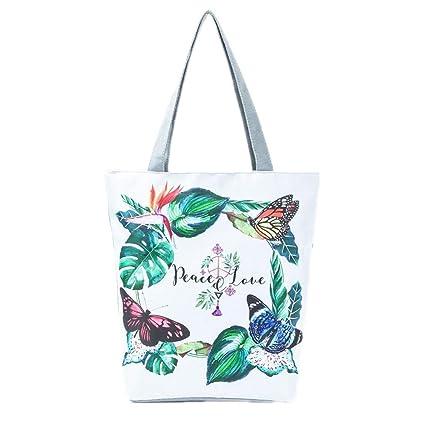 7b0e6d94a4 Beach Bags Canvas Shoulder Handbags Women Single Shopping Bag 001277A
