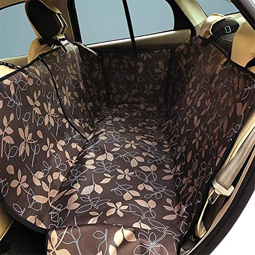 SOCHII Dog Carrier Oxford Pet Dog Car Back Seat Cover Carrier Waterproof Pet Mat Hammock Cushion Protector for Dogs Cats Accessories Coffee 130x150x38cm