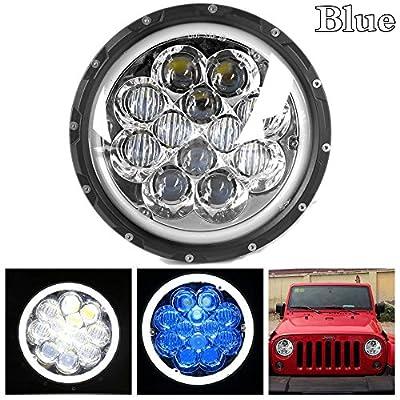 "HOZAN 7"" 5D LED Projector Headlamp for jeep wrangler JK LJ CJ"