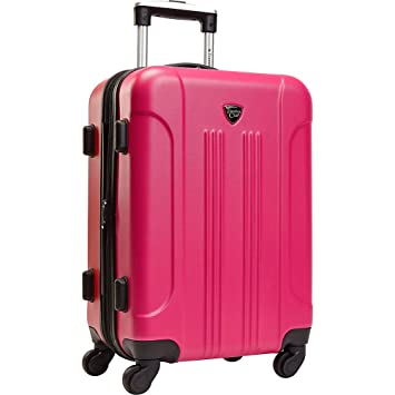 049d0ce535bd Travelers Club Luggage Modern 20 Inch Hardside Expandable Carry-On Spinner