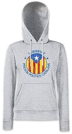LLIBERTAT Catalonia Hoodie Sudadera con Capucha para Mujer: Amazon.es: Ropa y accesorios