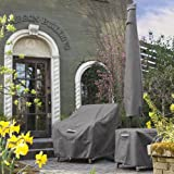 Classic Accessories Ravenna Water-Resistant 21 Inch Square Patio Ottoman/Table Cover