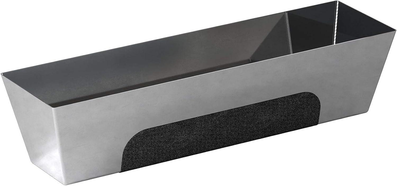 Gaveta para hormig/ón acero inoxidable, base contorneada, agarre antideslizamiento, 35,6 cm Bon 15-448
