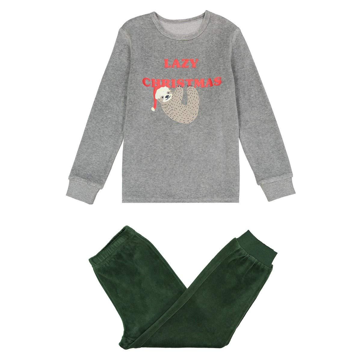 La Redoute Collections Big Boys Velour Lazy Print Pyjamas 3-12 Years
