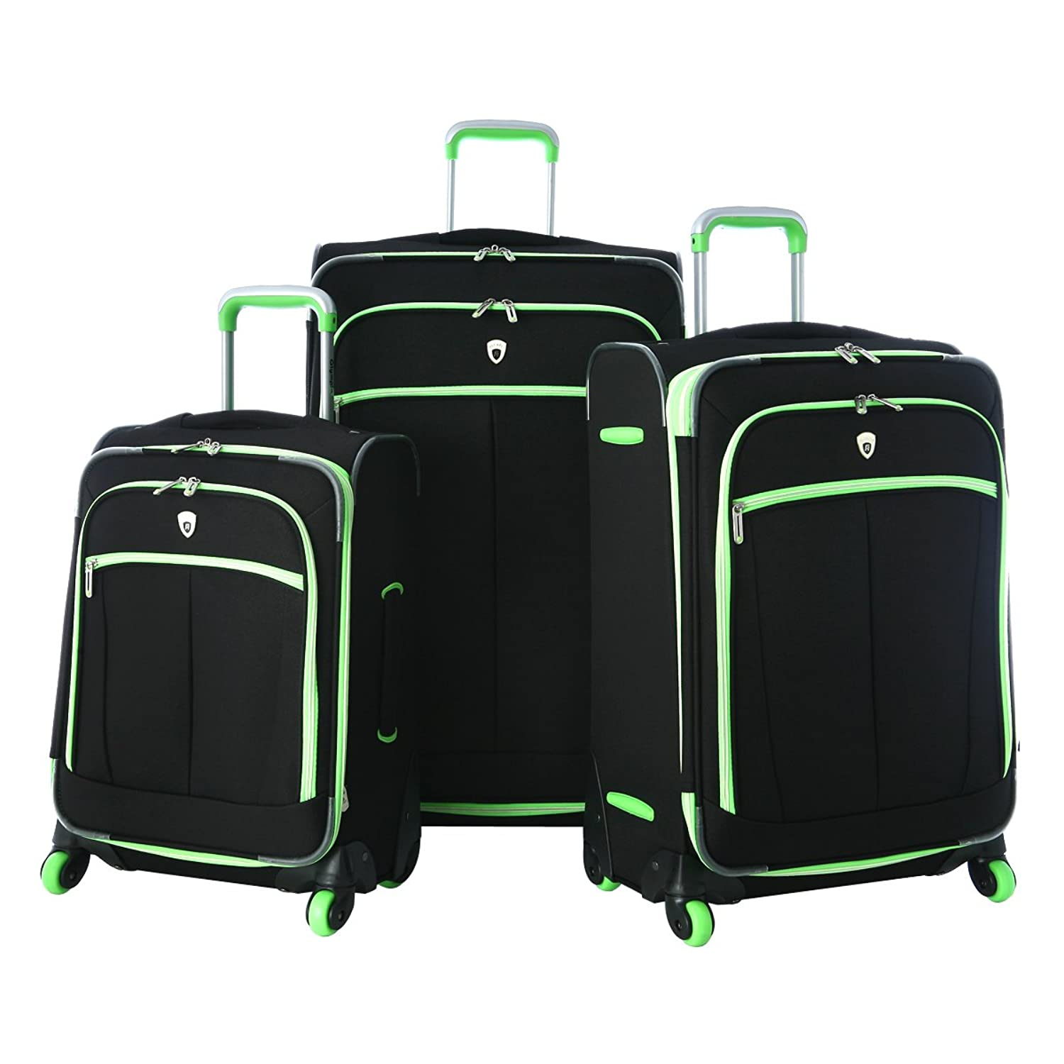 Amazon.com | Olympia Evansville 3Pc Luggage Set, Lime, One Size ...
