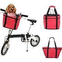 Lixada Inklapbaar fietsmand/fiets voorste drager tas, aluminiumlegering frame en zeildoek, afmetingen: 32 x 23 x 26 cm
