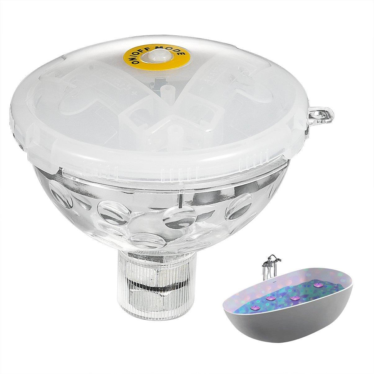 LEDGLE LED Colour Changing Light for Bathtub or Spa Bathtub Lights, Waterproof IP68,Battery Powered,5 Flash Modes