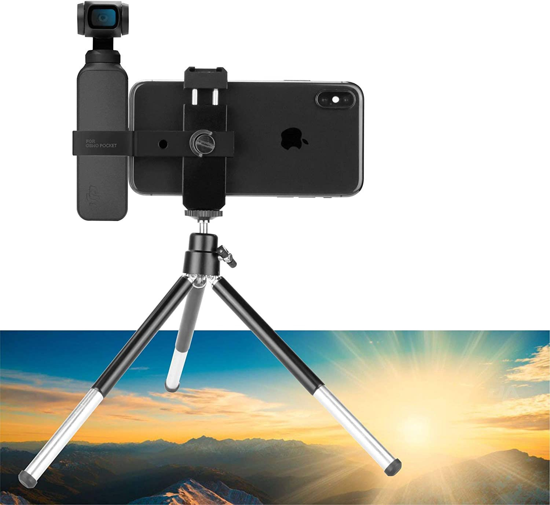 Aluminum 3-axis Mini Tripod Phone Mount Stand for DJI Osmo Pocket Handheld Gimbal Holder Accessories PENIVO Osmo Pocket Tripod