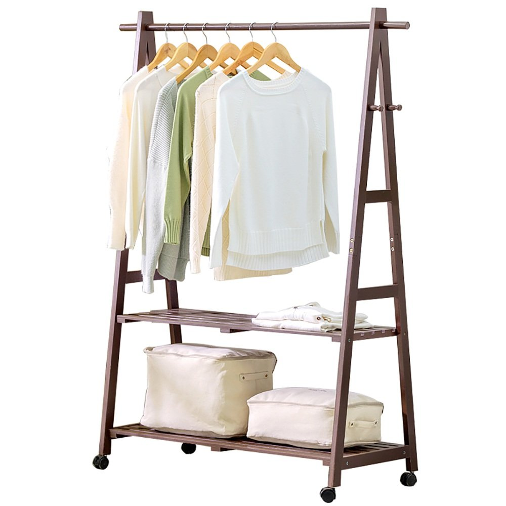 LJHA Perchero de Madera Maciza Rack//Simple//Dormitorio Perchero//Rack de Almacenamiento Infantil Perchas Color : D, Tama/ño : 60cm