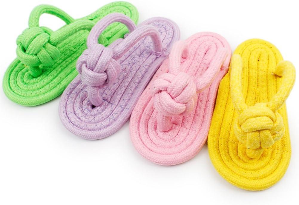 Namgiy Juguete para mascotas, juguete interactivo resistente a los ácaros, juguete para mascotas con nudos saludables, zapatos para perro, juguetes, suministros para mascotas, color al azar