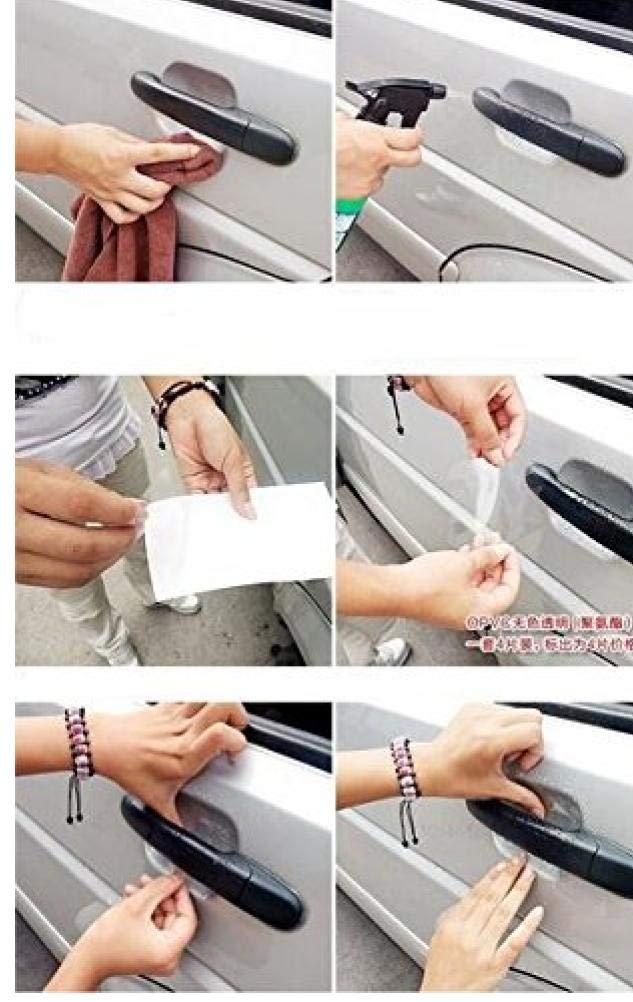 AMOYER 24 Pcs Effacer Poign/ées de Porte lat/érale Universelle Peinture Scratches de Protection Film Vinyl Films Protector Invisible