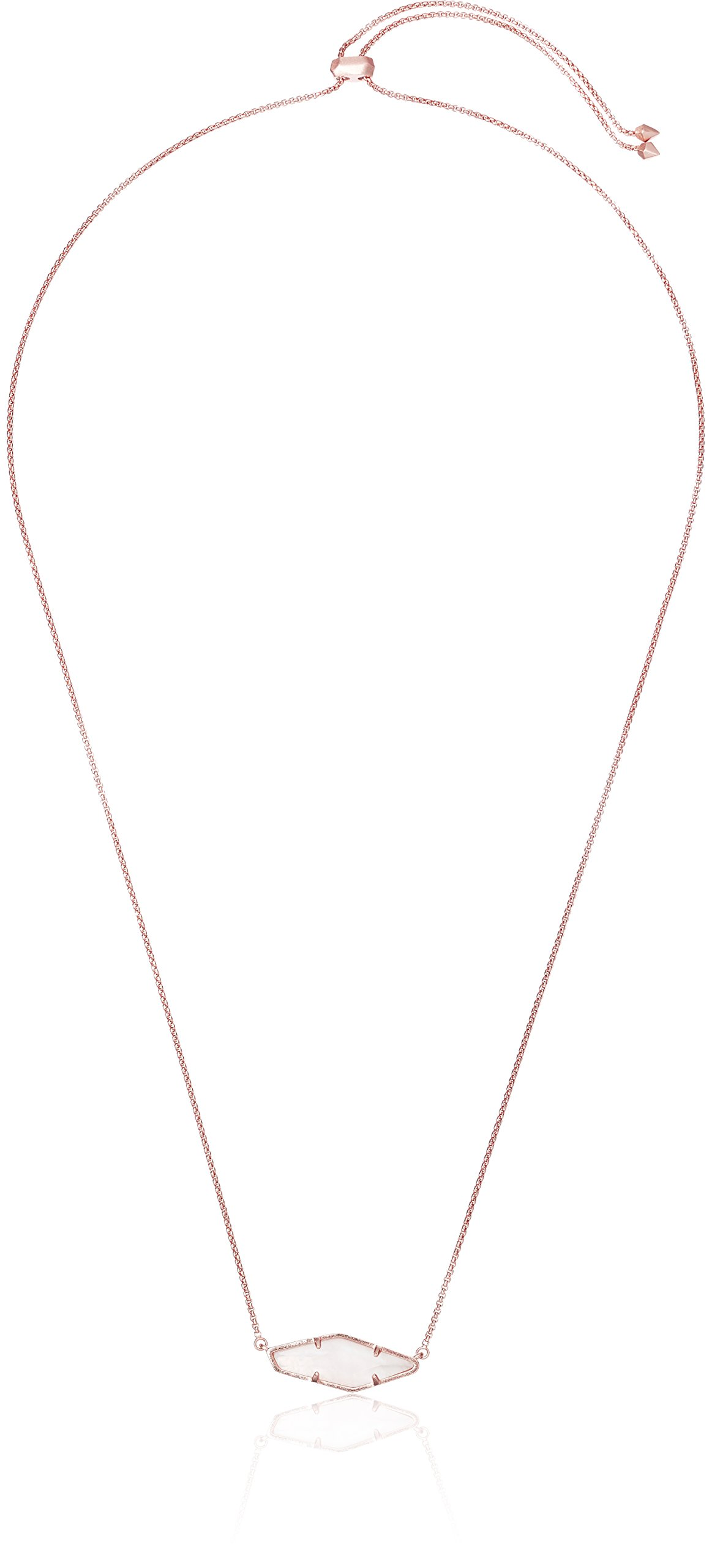 Kendra Scott Beth Rose Gold Ivory Mop Pendant Necklace, 28''