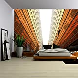 wall26 - Hong Kong Business District, Contemporary Office Buildings - Removable Wall Mural | Self-adhesive Large Wallpaper - 100x144 inches