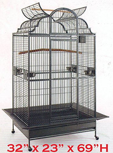 Large Castle (NEW Extra Large Castle Open Dome PlayTop Parrot Cage - 32