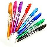 DxJ Erasable Gel Pens - 8 Pack Assorted Color Inks Pens 0.5mm Fine Point Rolling Ball Pen,Gel Ink Rollerball Pens for Kid Stu