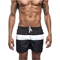 Rosatro Men's Casual Swimwear Slim Fit Shorts Soft Breathable Pouch Boxer Trunks