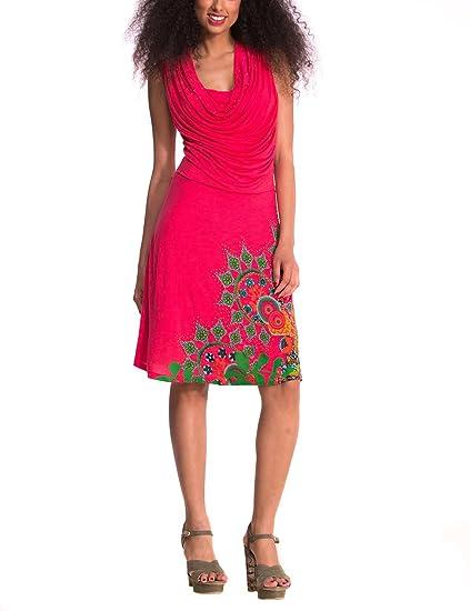 Vestiti Eleganti Desigual.Buy Desigual Dress Babylee1 Pink At Amazon In