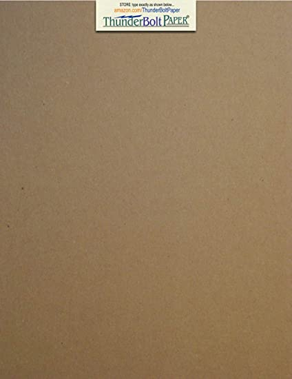 Amazon Com 100 Sheets Chipboard 24pt Point 8 X 10 Inches Light